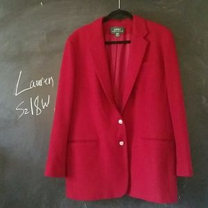 Lauren Ralph Lauren Worsted Wool Blazer 18W